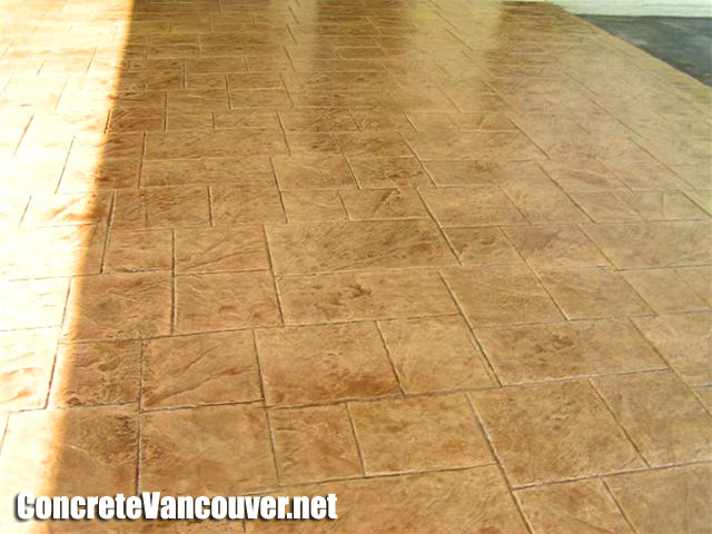 Stamped Concrete Swimming Pool Deck In North Vancouver Bc