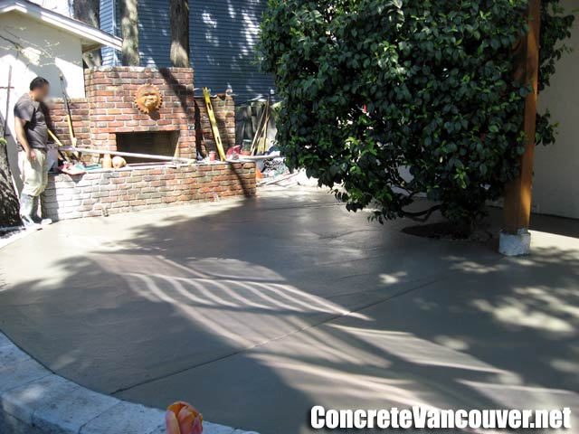 Exposed Aggregate Concrete Patio Burnaby Bc Canada