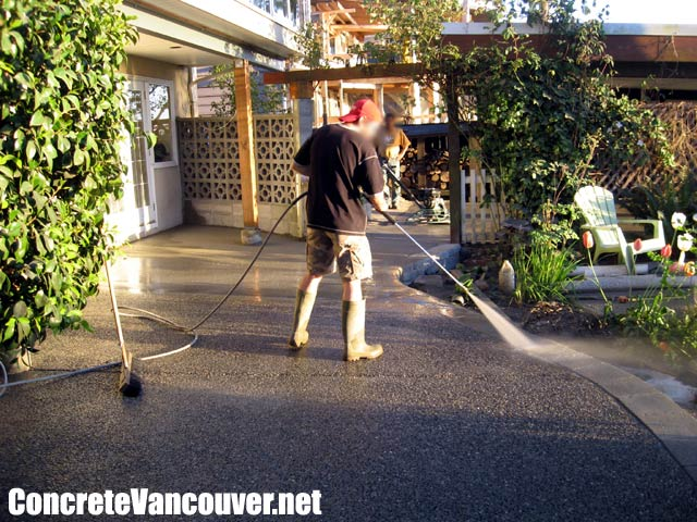 ... Canada Exposed Aggregate Concrete Patio Deck Burnaby, BC, Canada