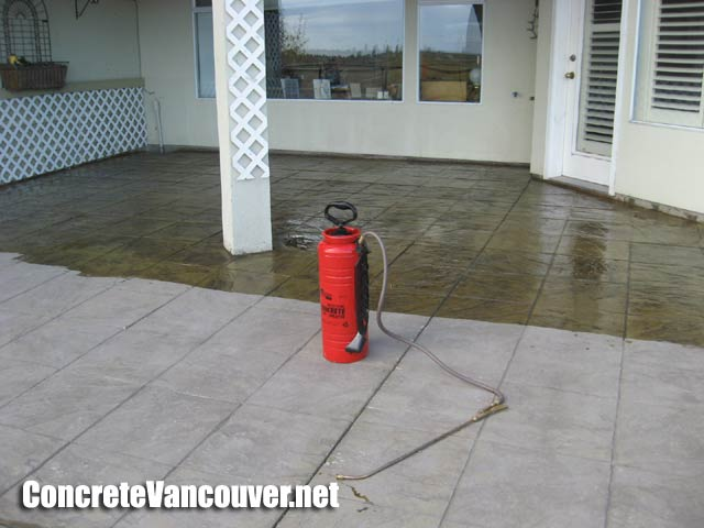 Exceptional ... Canada Concrete Sealer Brings Out The Vivid Color Of The Stamp Concrete  Mix ...