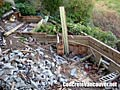 Demolition of wood and concrete patio deck and railings in Ladner / Tsawwassen, BC, Canada