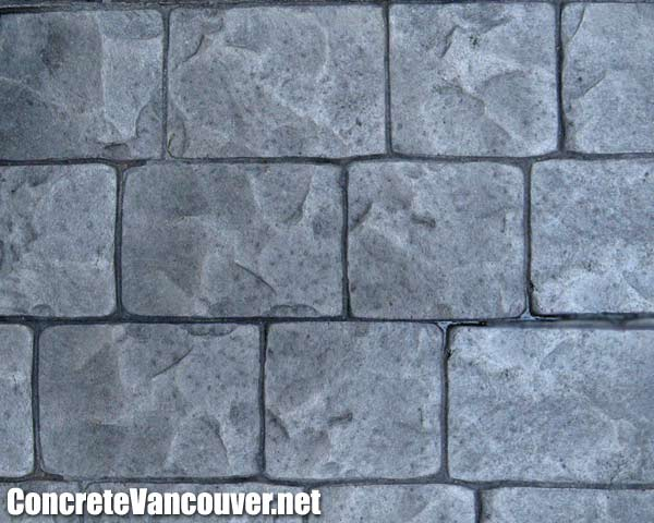 Canada Slate London Cobblestone Stamp Concrete Pattern In Whistler BC