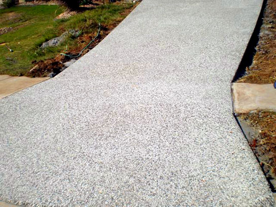 Exposed Aggregate Finish Concrete